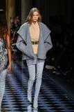 Josephine Skriver walks the runway during the Balmain show Stock Image
