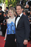 Josh Charles & Sophie Flack. CANNES, FRANCE - MAY 20, 2014: Josh Charles & wife Sophie Flack at the gala premiere of Two Days, One Night at the 67th Festival de Royalty Free Stock Image