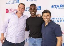 Josh A Dawson, Michael Stiggers, et Jay McKenzie à 2019 étoiles dans l'allée images stock