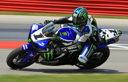 Josh Hayes races his R1 Yamaha Stock Photo