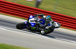Josh Hayes races his Yamaha R11 Royalty Free Stock Images