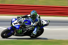Josh Hayes racing the Yamaha R1 Royalty Free Stock Photography
