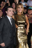 Josh Hutcherson,Jennifer Lawrence Royalty Free Stock Photos