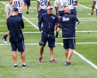 Josh McDaniels with other coaches. Royalty Free Stock Images