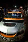 Josh Moffett with Mitsubishi Evo 9 Stock Image