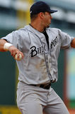 Josh Phelps listo para lanzar el béisbol Imagen de archivo libre de regalías