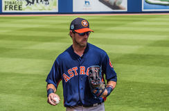 Josh Reddick 2017 Houston Astros. March 26, 2017 - West Palm Beach, Florida : Josh Reddick of Houston Astros throws ball during practice of Spring Training game royalty free stock photography