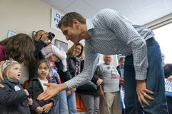 Josh Romney meeting childern Royalty Free Stock Photos