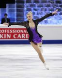 Joshi HELGESSON (SWE). STOCKHOLM, SWEDEN - JANUARY 30, 2015: Joshi HELGESSON of Sweden performs during ladies free skating event at ISU European Figure Skating stock photography