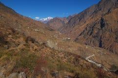 Joshimath landscape scene Stock Image