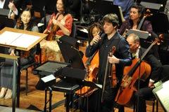 Joshua Bell på Avery Fisher Hall Arkivbilder