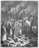 Joshua erspart Rahab stock abbildung