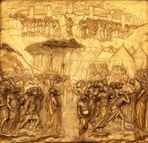 Joshua, Gates of Paradise, Baptistry of Florence Cathedral. Baptistry of Saint John, Gates of Paradise, Joshua, Florence, Italy Royalty Free Stock Photography