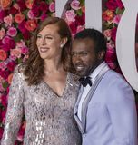 Joshua Henry at 2018 Tony Awards. Previous Tony winner and star of Broadway musicals, Joshua Henry arrives on the red carpet for the 72nd Annual Tony Awards held Stock Photo