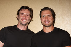 Joshua Morrow, Daniel Goddard stock foto's