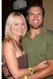 Joshua Morrow, Sharon Case stock fotografie