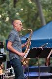 Joshua Redman em Charlie Parker Jazz Festival em Manhattan, 2017 Fotografia de Stock
