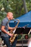 Joshua Redman em Charlie Parker Jazz Festival em Manhattan, 2017 Fotos de Stock
