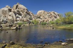 Joshua Tree National park, Barker Dam. American national park in southeastern California stock image