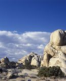 Joshua Tree National Park California.  Monzogranite rock formation Stock Photos