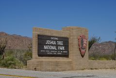 Joshua Tree National Park - Sign Royalty Free Stock Image