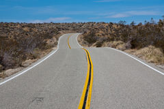 Joshua Tree Road. Road in Joshua Tree National Park, California royalty free stock image