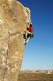 Joshua Tree Rock Climbing Royalty Free Stock Photography