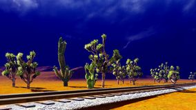 Joshua trees on desert Stock Images