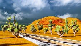 Joshua trees on desert Royalty Free Stock Photography