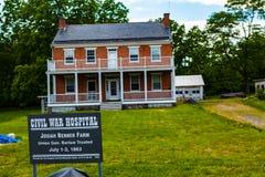 Josiah Benner Farm en Gettysburg Imágenes de archivo libres de regalías