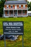 Josiah Benner Farmhouse i Gettysburg fotografering för bildbyråer