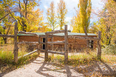 Josie Morris Homestead. Located in Cub Creek, Dinosaur National Monument stock photography
