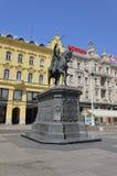 Josip Jelacic de Buzim, Zagreb 2 Imagem de Stock Royalty Free