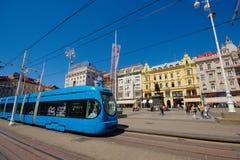 Josip Jelaćić Square in Zagreb Stock Image