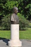 Josip Juraj Strossmayer雕象在奥西耶克,克罗地亚 库存照片