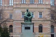 Josip Juraj Strossmayer Monument in Croatia, Zagreb royalty free stock image