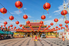 The joss house is decorated for vegetarian festival on Sep 27, 2014 in Takua Pa Royalty Free Stock Image