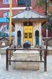 Joss house of God in Basantapur Durbar Square in Kathmandu Nepal Stock Photos