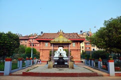 Joss house of God in center of Patan Durbar Square Royalty Free Stock Photo