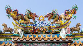 Joss house roof Royalty Free Stock Images