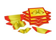 Joss Paper and Chinese Gold Paper for Chinese Celebration Royalty Free Stock Images