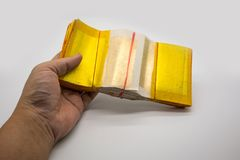 Joss Paper Chinese Tradition para espírito afastado passados do ` s do antepassado, Imagens de Stock Royalty Free