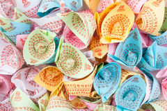 Joss paper on hand Royalty Free Stock Image