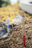Joss stick buring at the graveyard,Thailand Stock Photos