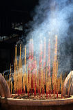 Joss stick incense. In the temple royalty free stock images