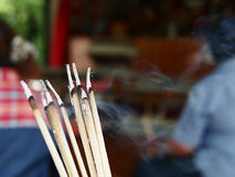 Joss stick for lucky days Royalty Free Stock Photo
