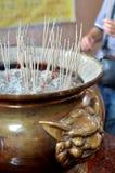 Joss stick pot Royalty Free Stock Photography