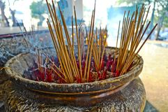 Joss stick pot Stock Image