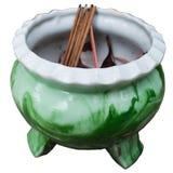 Joss Stick Pot Royalty Free Stock Photo