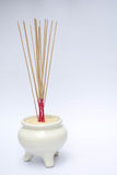 Joss stick pot Royalty Free Stock Photos